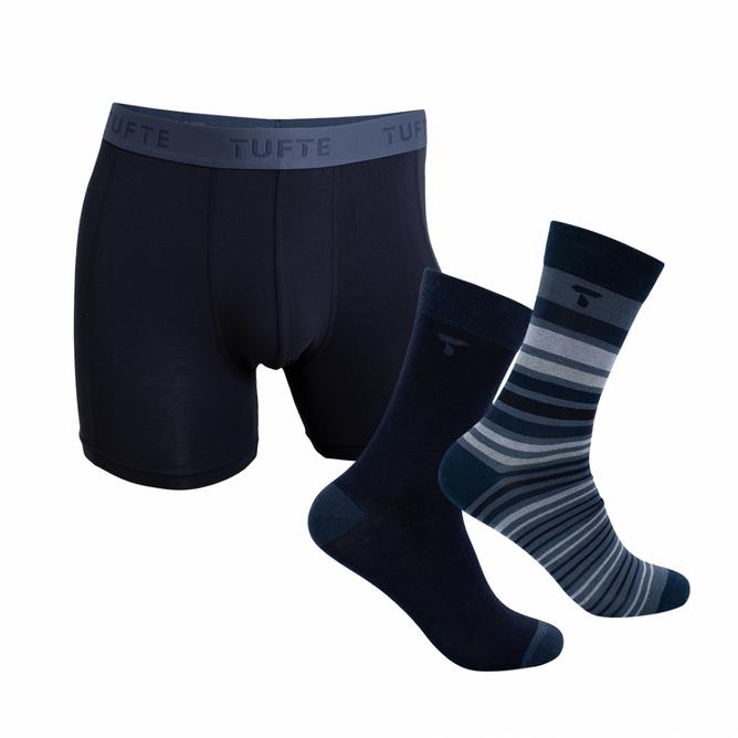 Bilde av Tufte Men`s Boxer & Socks Giftbox Blue