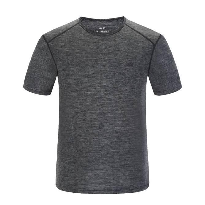 Bilde av Skogstad Hornelen Merino T-skjorte Mid Grey Herre